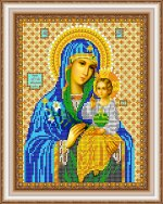 «Светлица» набор для вышивания бисером 8368 «Прс.Богородица Неувядаемый цвет» бисер Чехия 1924см (1шт) цвет:8368