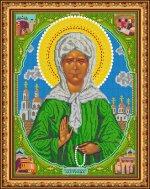«Светлица» набор для вышивания бисером 8301Б «Св. Матрона Московская» бисер Чехия 3038см (1шт) цвет:8301Б