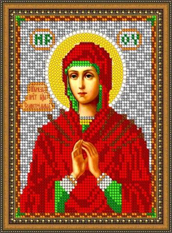 «Диамант» набор со стразами ДМ-370 «Прсв. Богородица Семистрельная» 14,319,3см (1шт) цвет:ДМ-370