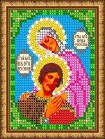 «Светлица» набор для вышивания бисером с рамкой 8418ЛМ «Св. Петр и Феврония» бисер Чехия 7,510см (1шт) цвет:8418ЛМ