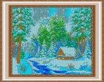 «Диамант» набор со стразами в подарочной фанерной упаковке ДК-569П «В зимнем лесу» 4838см (1шт) цвет:ДК-569П
