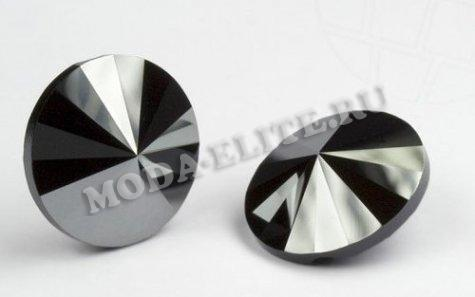 Пуговица 3015 16мм Unfoiled (1шт) цвет:280HEM-Jet Hematite
